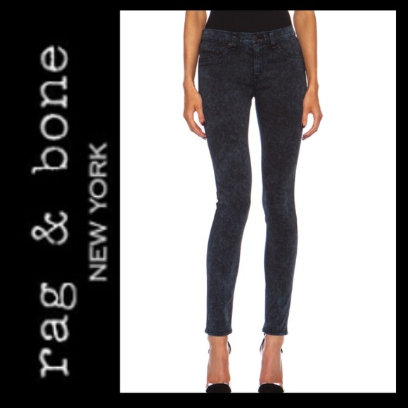 Sale Rag Bone Rosebowl Black Skinny